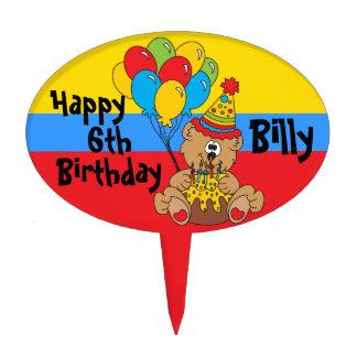 Oso del fiesta del feliz cumpleaños decoración de tarta