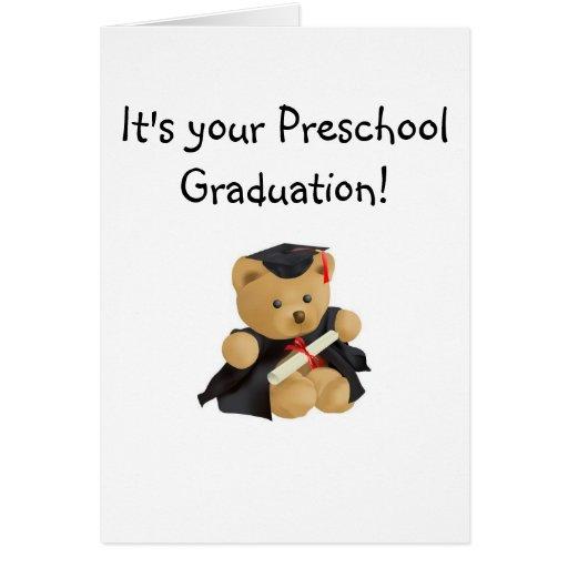 Oso del Graduación-Peluche Felicitación