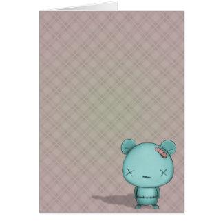 oso del kawaii tarjeta de felicitación
