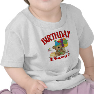 Oso del muchacho del cumpleaños camisetas