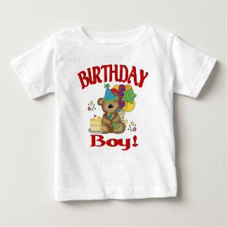Oso del muchacho del cumpleaños tshirt