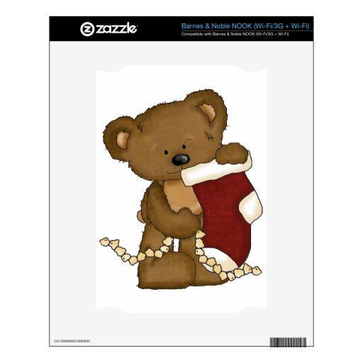 oso del navidad con la media calcomanías para NOOK
