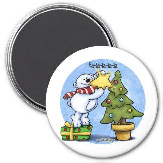 Oso del navidad de Falala Beary Imán Para Frigorifico