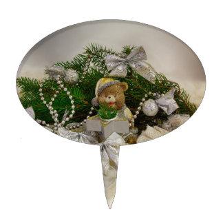 Oso del navidad palillos de tarta