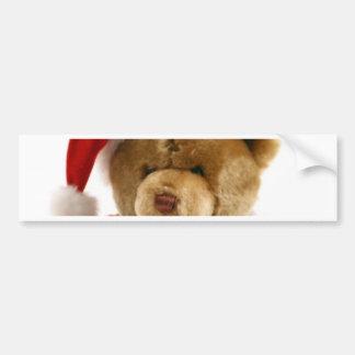 oso del navidad pegatina para auto