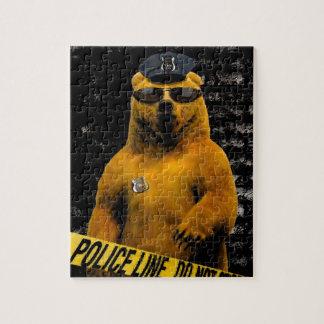 ¡Oso del oficial de policía! Rompecabeza Con Fotos