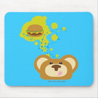 oso del orbie con la hamburguesa del queso alfombrilla de raton