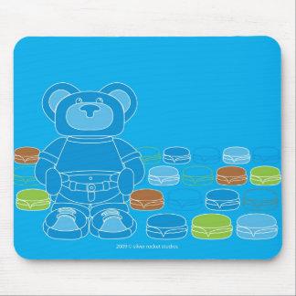 oso del orbie con muchas hamburguesas del queso mouse pads