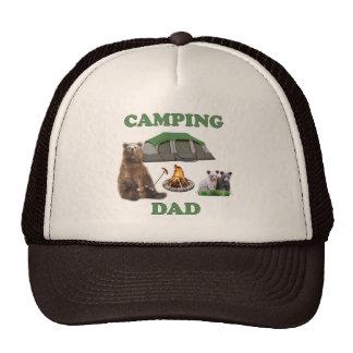 Oso del papá que acampa gorras de camionero