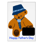 Oso del papá, tarjeta feliz del día de padre
