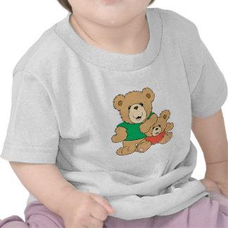 Oso del papá y del bebé camiseta