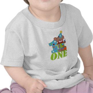 Oso del payaso del cumpleaños, primer cumpleaños camisetas