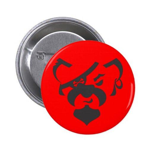 Oso del pirata básico pin redondo 5 cm