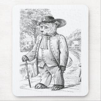 Oso del Quaker - letra Q - oso de peluche del Alfombrilla De Ratón