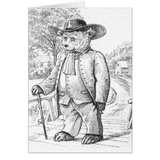 Oso del Quaker - letra Q - oso de peluche del Tarjeta De Felicitación