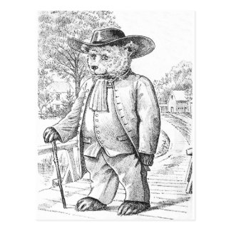 Oso del Quaker - letra Q - oso de peluche del Tarjeta Postal