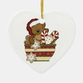 Oso dulce del navidad ornato