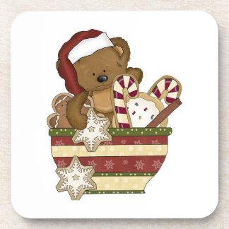 Oso dulce del navidad posavaso