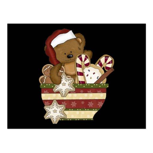 Oso dulce del navidad postales