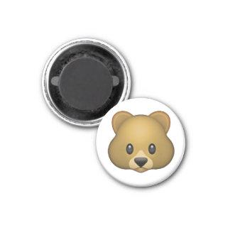 Oso - Emoji Imán Redondo 3 Cm
