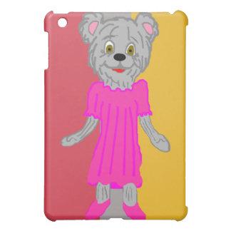 Oso en caso del iPad del vestido
