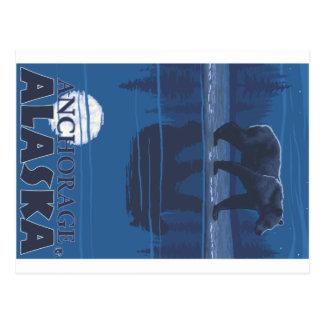 Oso en claro de luna - Anchorage Alaska Postal