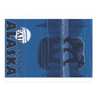 Oso en claro de luna - Fairbanks, Alaska Postal