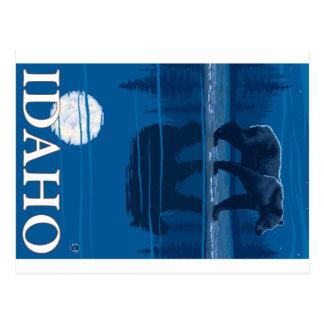 Oso en claro de luna - Idaho Tarjeta Postal