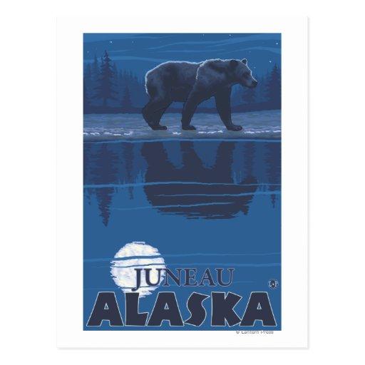 Oso en claro de luna - Juneau, Alaska Tarjeta Postal