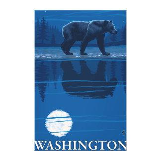 Oso en claro de luna - Washington Impresión En Lona