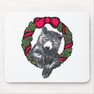 oso en guirnalda tapete de raton