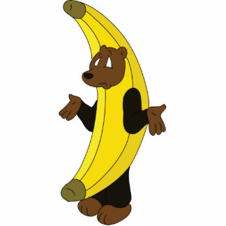 Oso en juego del plátano esculturas fotográficas