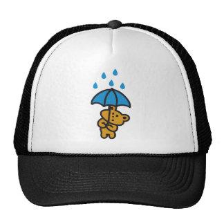 Oso en la lluvia gorras de camionero
