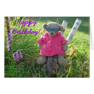 ¡Oso-en-Sombras, feliz cumpleaños! Tarjeta De Felicitación