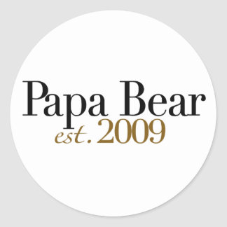 Oso Est 2009 de la papá Pegatina Redonda