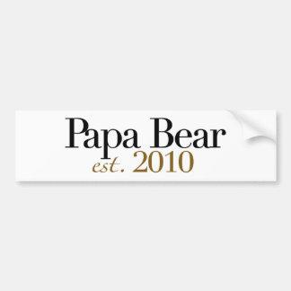 Oso Est 2010 de la papá Etiqueta De Parachoque