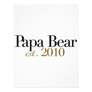 Oso Est 2010 de la papá Membretes Personalizados
