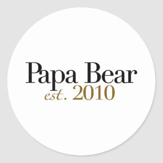 Oso Est 2010 de la papá Pegatina Redonda