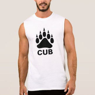 Oso gay Cub del símbolo de la pata de oso negro Playera Sin Mangas