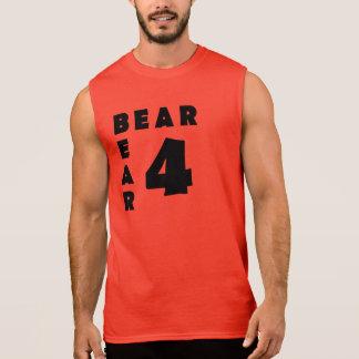 Oso gay del texto negro del oso del oso 4 playeras sin mangas