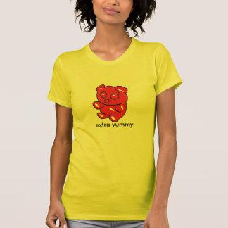 oso gomoso rojo t camiseta