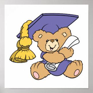 Oso graduado lindo de la graduación poster