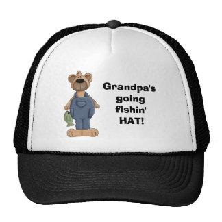 ¡oso, Grandpa'sgoingfishin'HAT! Gorros Bordados