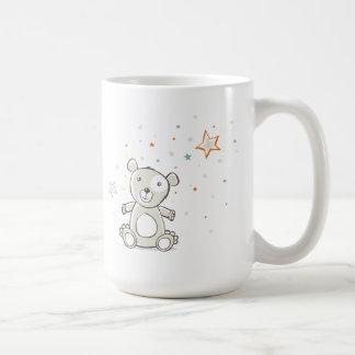 Oso gris soñoliento taza
