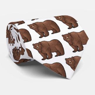 Oso grizzly corbatas personalizadas