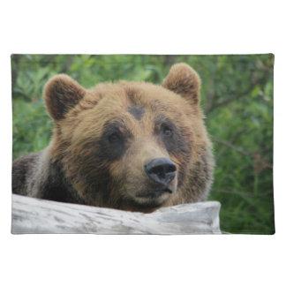 Oso grizzly de Alaska, el Kodiak Mantel Individual
