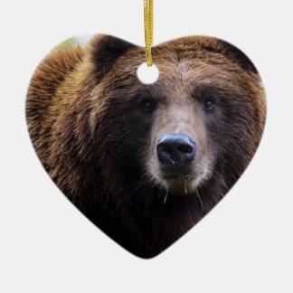 Oso grizzly de Brown Adornos