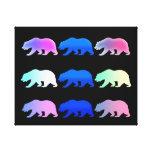 Oso grizzly de California Impresión En Lienzo Estirada