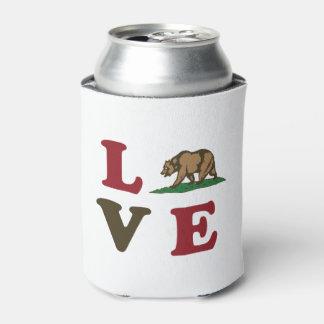 Oso grizzly de la república de California del amor Enfriador De Latas