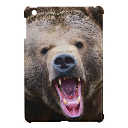 Oso grizzly de rugido